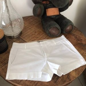 VINCE SOLID WHITE COTTON WOMENS SHORTS SIZE: 6